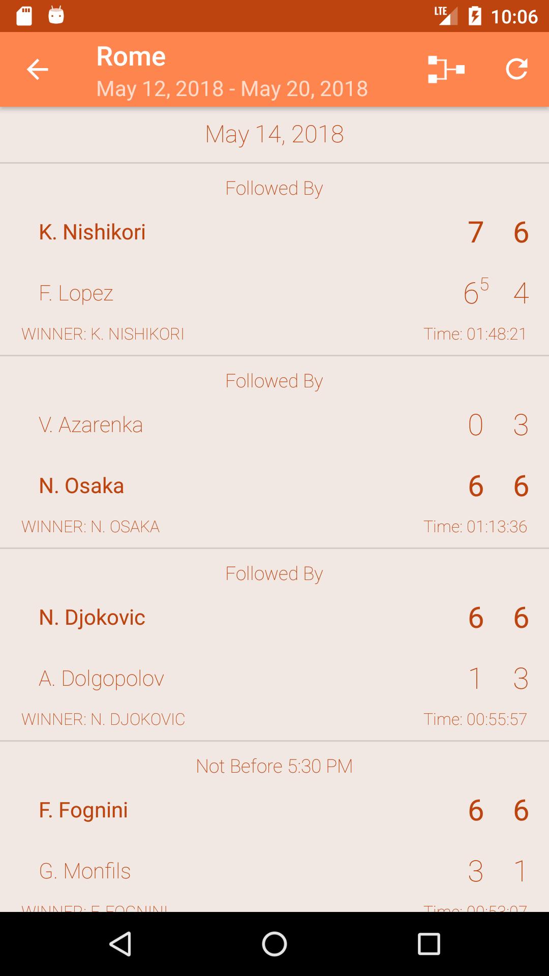 Deuce - Android Tennis Live Scores App